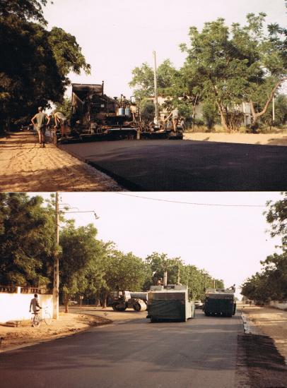 Section produit noir de l' adjudant-chef  ROMANT-PIQUAN Réfection de certaines chaussées en ville